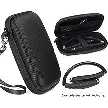 Travel Case for Wireless Foldable Sports Neckband Bluetooth Headphones like NEXGADGET, EGRD, HOBEST, MOCHE, Fetta, dostyle, Senbowe, Levin,Dylan, pkman, Bestyoyo, Atc, VICTA, AVIVANT, souldio (Black)