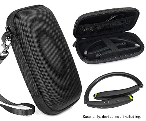 Travel Case for Wireless Foldable Sports Neckband Bluetooth Headphones Like NEXGADGET, EGRD, HOBEST, Moche, Fetta, dostyle, Senbowe, Levin,Dylan, pkman, Bestyoyo, ATC, VICTA, AVIVANT, souldio (Black)