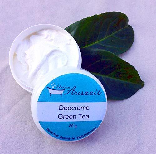 Deocreme Green Tea, ohne Aluminium und Konservierungsstoffe, vegan, ohne Palmöl, wirksames Deo von kleine Auszeit Manufaktur ohne Palmöl