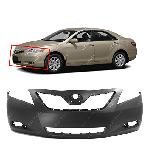 MBI AUTO - Primered, Front Bumper Cover Fascia for 2007-2009 Toyota Camry 07-09, TO1000329 ()