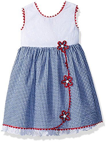 Bonnie Jean Toddler Girls' Americana Dress, Seersucker Flowers, 3T Bonnie Jean Bodice Jeans