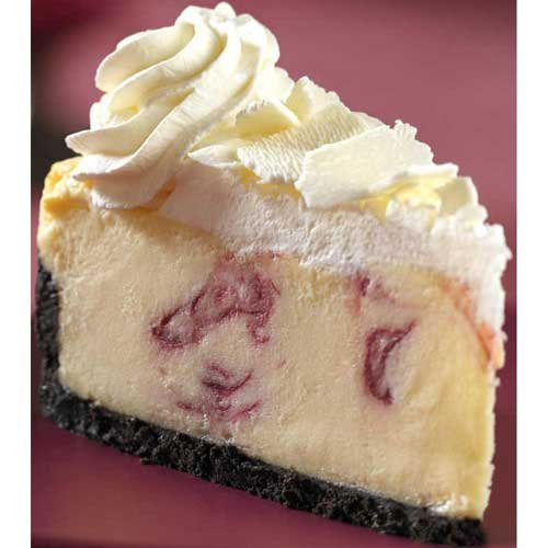 Chocolate Cheesecake Raspberry (The Dream Factory 10 inch White Chocolate Raspberry Cheesecake, 80 Ounce - 2 per case.)