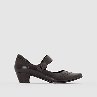 La Redoute Anne Weyburn Womens Leather Wedges Amazoncouk