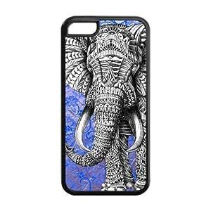 MMZ DIY PHONE CASECustomiz Aztec Elephant Back Cover Case for iphone 6 plus 5.5 inch