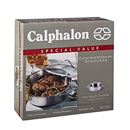 Calphalon Contemporary Stainless Steel 5-Quart Sauteuse
