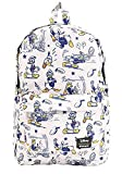 Loungefly Disneys Donald Duck Print Backpack, White, Standard