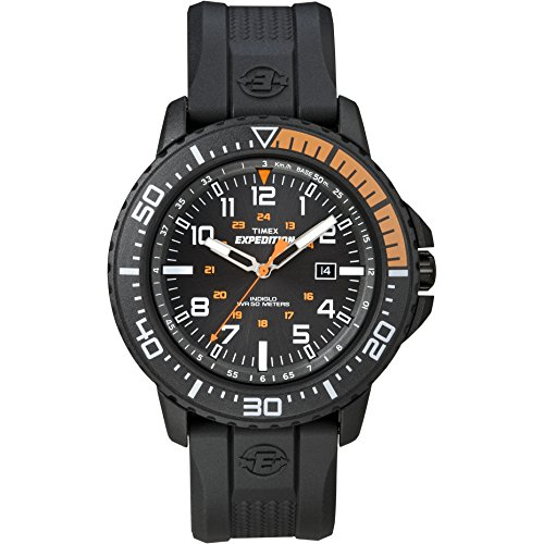 Men's Expedition | Black Case & Resin Strap Indiglo Uplander Watch - Timex T49940