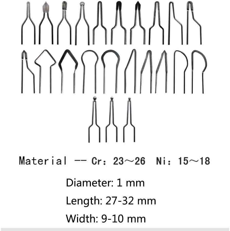 Eleoption 50/W 1/mm Brandmalerei-Drahtspitzen-Set 10/St/ück Spitzen