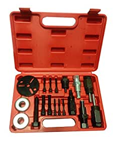 PMD Products 18pc A/C Deluxe Automotive Compressor Clutch Hub Remover Installer Puller Tool Air Conditioner AC