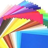 Biging 100 Sheets 50 Vivid Colours Origami Pap