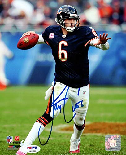 Jay Cutler Signed Photograph - 8x10 Stock #102503 - PSA/DNA Certified - Autographed NFL Photos