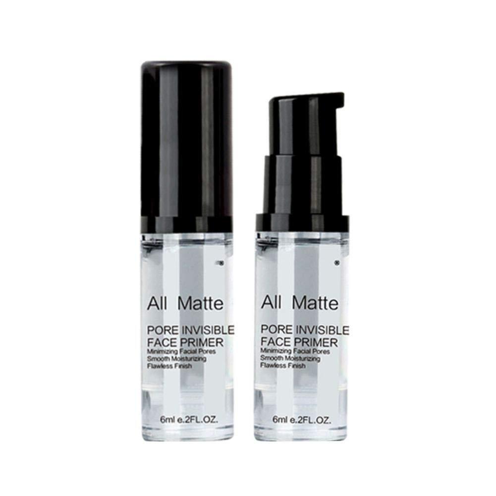 All Matte Pore Invisible Face Primer, Spdoo Moisturizing Facial Pores Smooth Moisturizing Makeup Base Primer Liquid, Natural Moisturizer Whitening Long Lasting Pre-Makeup Spray, 2 Pack