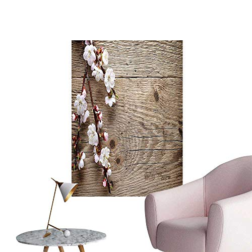 Wall Stickers for Living Room Romantic SPR Cherry Blossom Branch Old Table Love Valent Brown Vinyl Wall Stickers Print,20