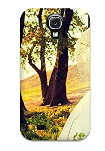 New Style 8607614K36700406 Fashionable Galaxy S4 Case Cover For Married Couple Under Umbrella Kiss Under Tree Protective Case
