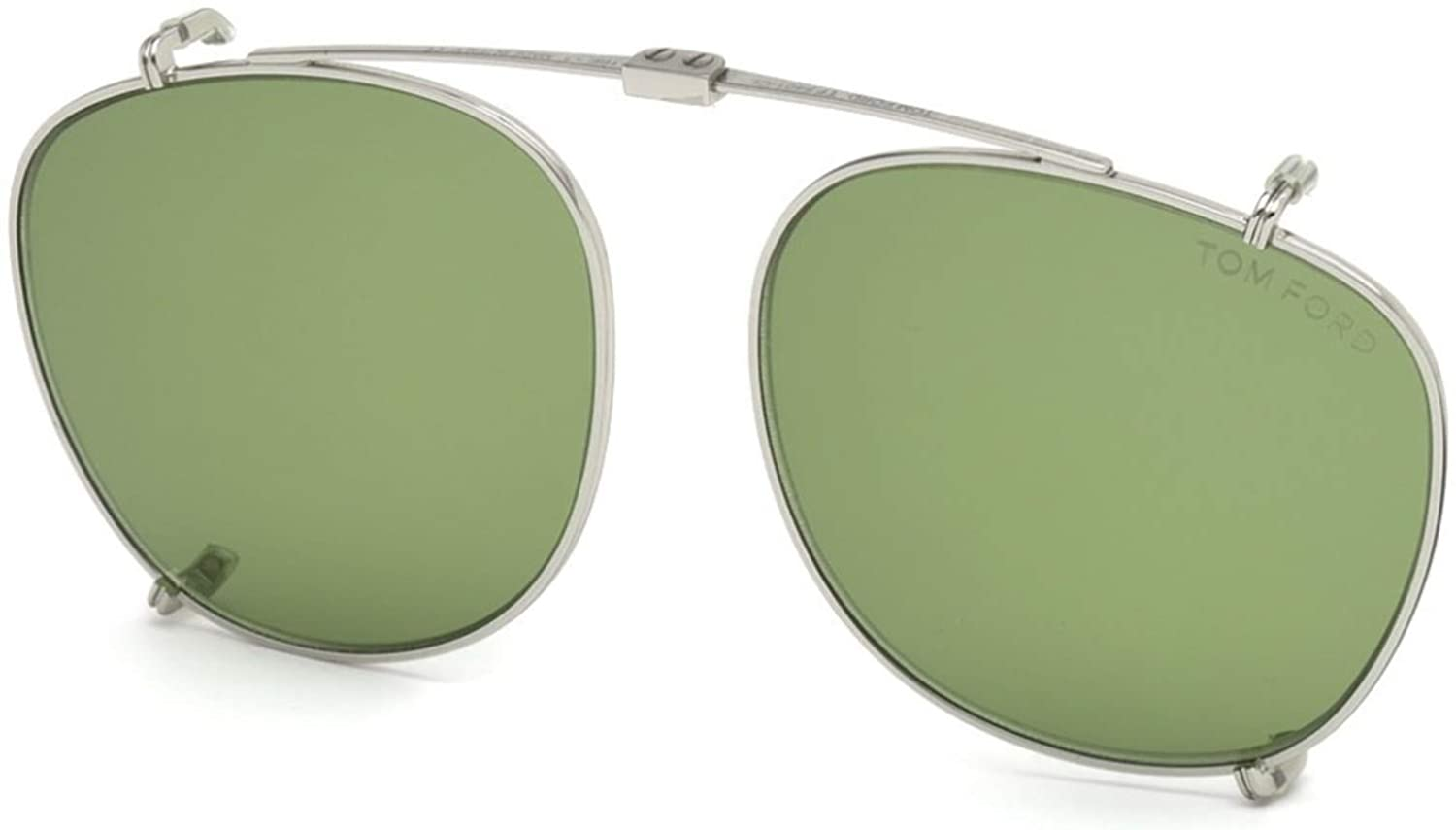 Tom Ford Unisex Adults' FT5401 18N 52 Sunglasses, Grey (Rodio Lucido/Verde)