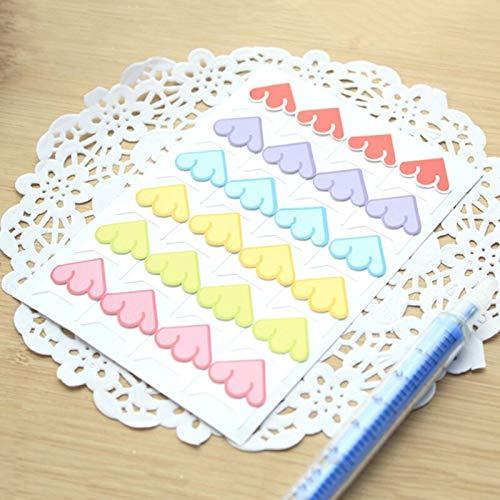 24 pcs/lot DIY Floral Print Flag Multicolor Corner Paper Stickers for Photo Albums Frame Decoration Scrapbooking