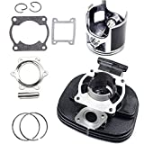 ECCPP New Cylinder Piston Ring Gasket for 1988-2006 Yamaha Blaster 200 YFS 200 Compatible fit for Cylinder Piston Gasket Top End Kit