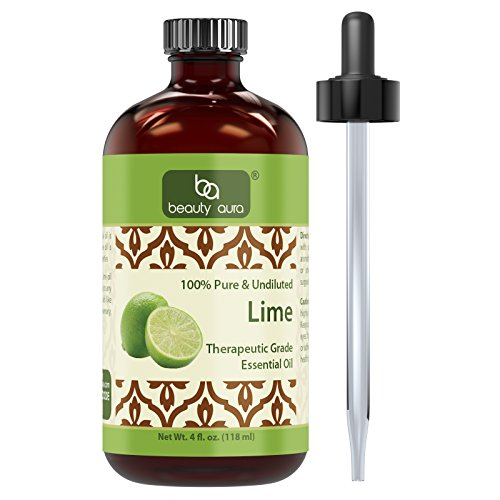 Beauty-Aura-100-Pure-Lime-Oil-4-Fl-oz-100-pure-and-undiluted-Therapeutic-Grade