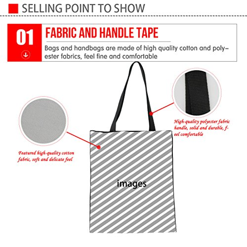 Bag Advocator Beach Handles Daily Print Durable Tote Work for Bags Summer Bag Teacher Tote Shopping Canvas 1 Tote Color EEHqR