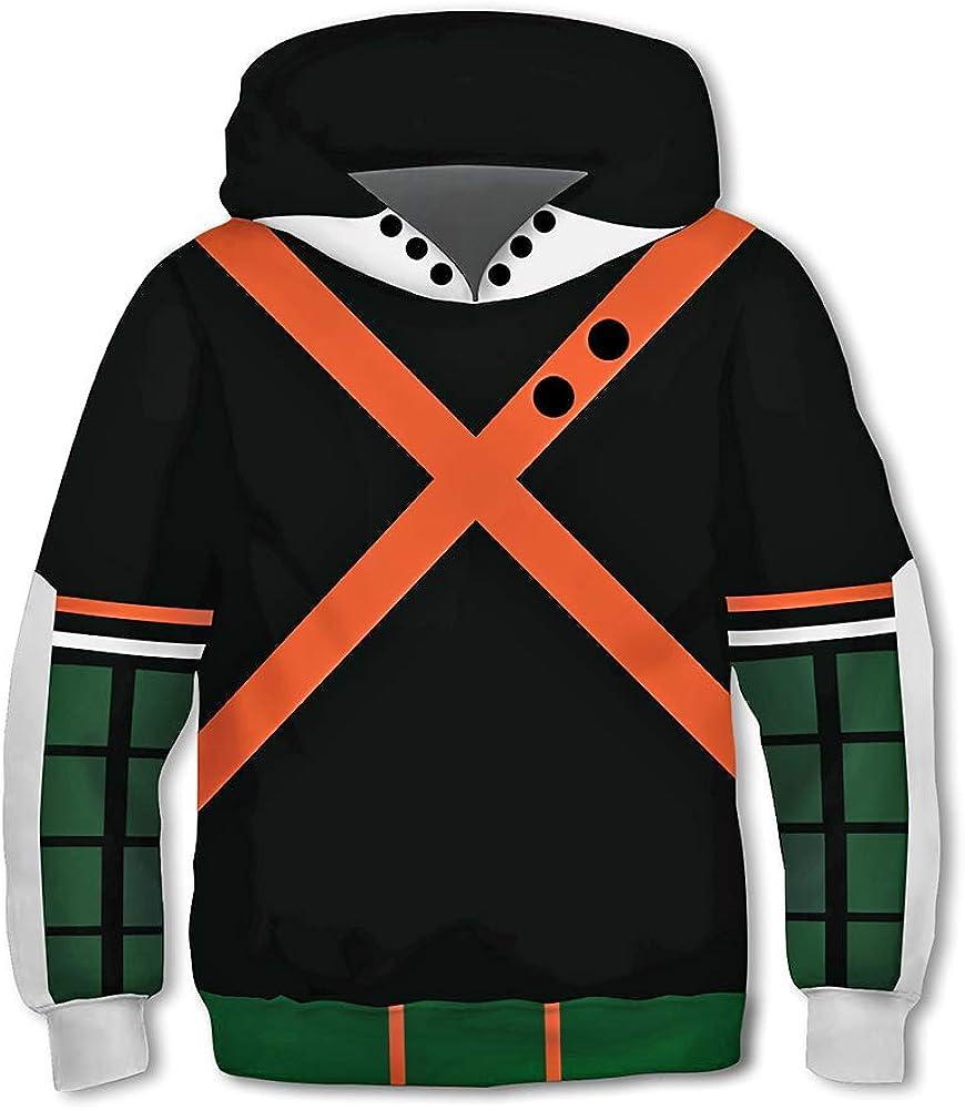 My Hero Academia Hoodie for Kids Boku No Hero Academia Anime Cosplay Costume Pullover Sweatshirt Boys
