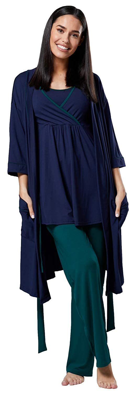 1fc53ac52 HAPPY MAMA Mujer Maternidad Conjunto Pijama  Pantalones  Cima  Bata 558p  pajamaset  558