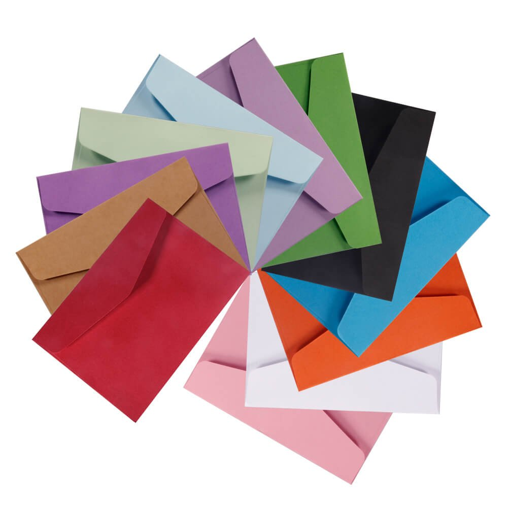 Amazon.com : Selizo 120 Pieces Small Colored Envelopes, 4.5 x 3.2 in ...