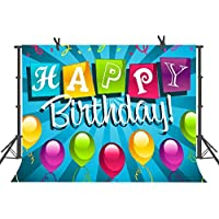 FUERMOR Background 7x5FT Happy Birthday Photography Backdrops Studio Party Photo Props RQ007