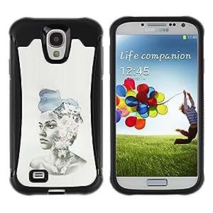 Suave TPU GEL Carcasa Funda Silicona Blando Estuche Caso de protección (para) Samsung Galaxy S4 IV I9500 / CECELL Phone case / / Girl Spring Fashion Hat Art Painting /