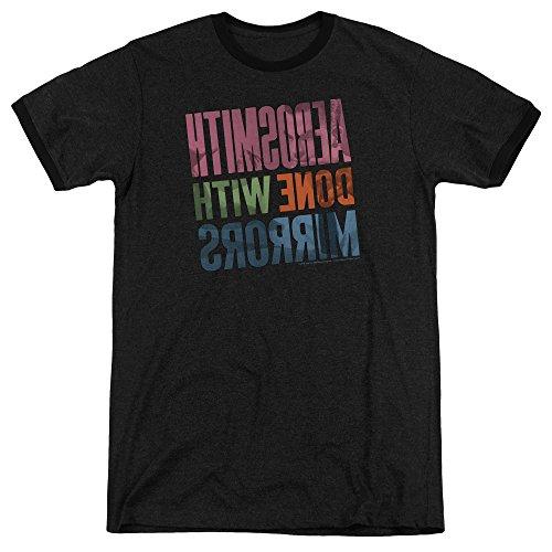 de manga hombre Negro larga Aerosmith Camiseta para Znqx51vBww