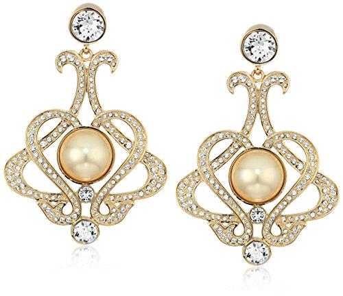 Nina Womens E-Adriana Drop Earrings, Gold, One Size