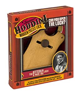 Houdini Wooden Puzzle Lock The Utterly - Candado rompecabezas