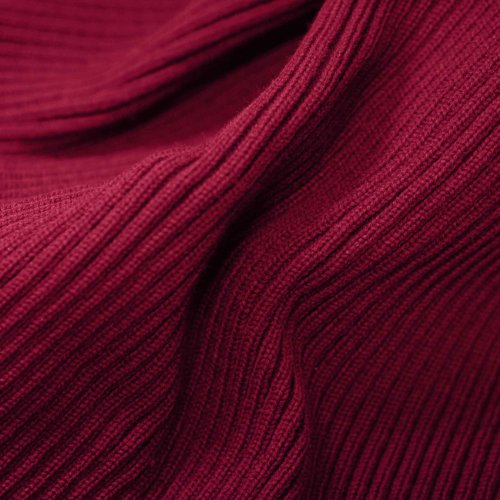 Neotrims Chunky Thick Stretch Knit Trimming Ribbing for Garments, Cuffs, Bomber Jackets, Waistbands and Welts. Medium Chunky Weight. Resilient Soft Natural Feel, 2x1 Ribbed Surface. Available in Navy, Black, Burgundy, ()