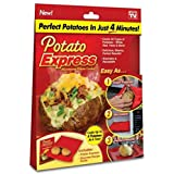 Potato Express Microwave Red Cookware