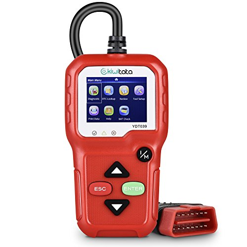 KIWITATA OBD2 Car Scanner,Universal Car Diagnostic Scanner Auto Engine Fault Code Reader CAN Diagnostic Tool for Check Engine Light with O2 Sensor Test and On-Board Monitor Test