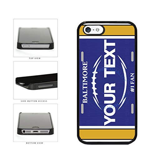 (BleuReign(TM) Personalized Custom Name Football Baltimore License Plate Plastic Phone Case Back Cover For Apple iPhone 5 5s and iPhone SE)
