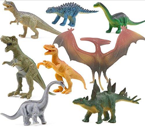 8 pcs Dinosaur Set, OMGOD Dinosaur Toys Tyrannosaurus, Velociraptor, Ceratosaurus, Lambe, Pterosaurs, Stegosaurus, Brachiosaurus, Kids Toy Realistic Jurassic Action Perfect Gift For Boy