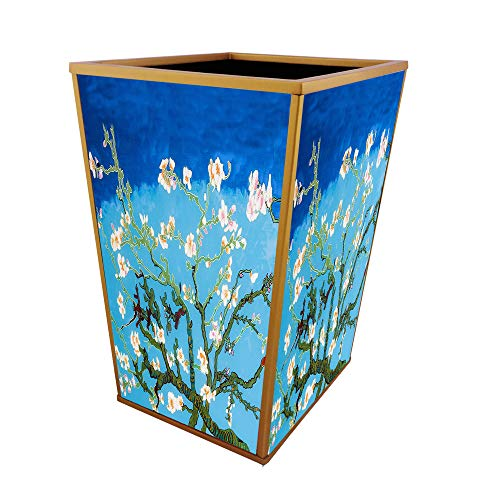 Ducoteduparckitchen Trash Bin Van Gogh Almond Blossom Handmade Decorative Waste Basket Dailymail