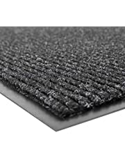 """NoTrax 109 Brush Step Entrance Mat, for Lobbies and Indoor Entranceways, 3' Width x 4' Length x 3/8"""" Thickness, Charcoal"""