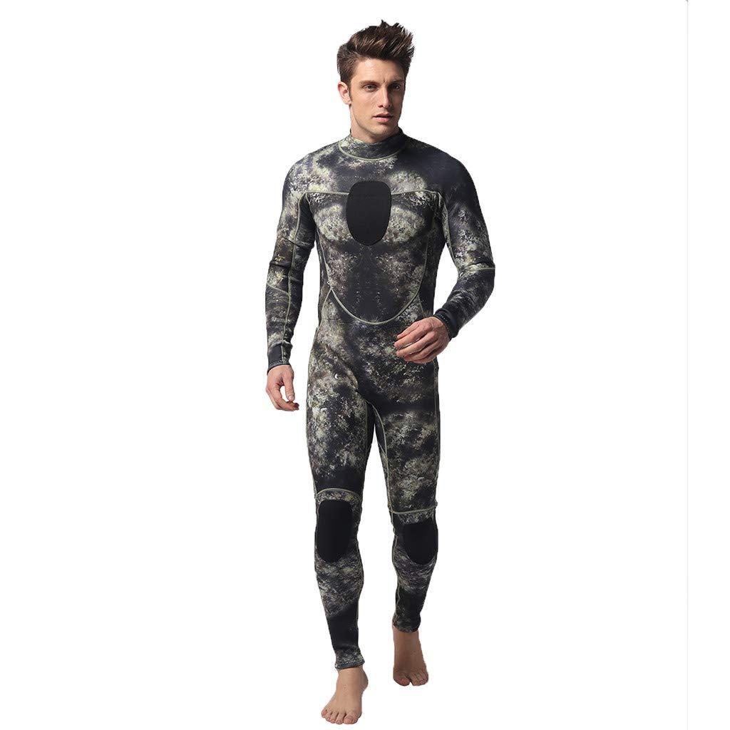 Muranba Wetsuit ! Men Wetsuit 3Mm Full Body Suit Super Stretch Diving Suit Swim Surf Snorkeling Camouflage
