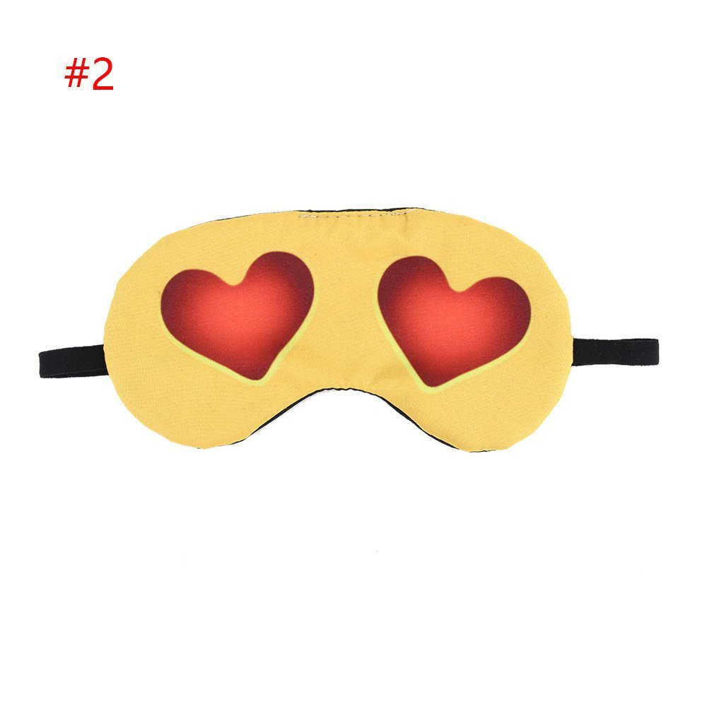 Wall of Dragon 1PC 8Styles Practical Cute Soft New 3D printing Rest Relax EyeShade Sleeping Eye Mask Cover emoji Eyepatch Blindfolds