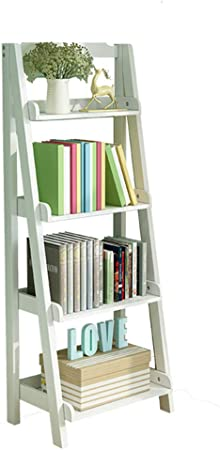 YNN Estantería-Escalera de Madera de 4 Niveles Escalera de Almacenamiento de bambú (Color : Blanco, Tamaño : 60 * 36 * 140cm): Amazon.es: Hogar