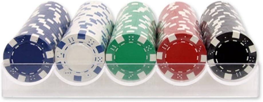 Estuche de 100 fichas de poker de 11.5 gr + REGALO TAPETE 120 x 80 cm. Dakota. 1 unidad: Amazon.es: Juguetes y juegos