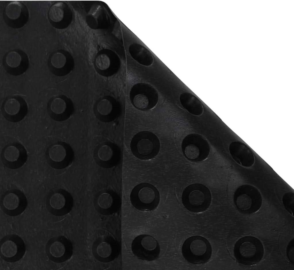 vidaXL 2x L/ámina de Drenaje Nodular HDPE Aislamiento Separaci/ón Construcci/ón Edificaci/ón Planificaci/ón Rehabilitaci/ón Viviendas 400 g//m/² 1x20 m