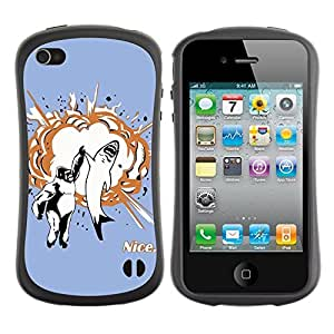 fashion Case for Apple iPhone 6 plus 5.5 for kids / Shark & Gorilla High Five