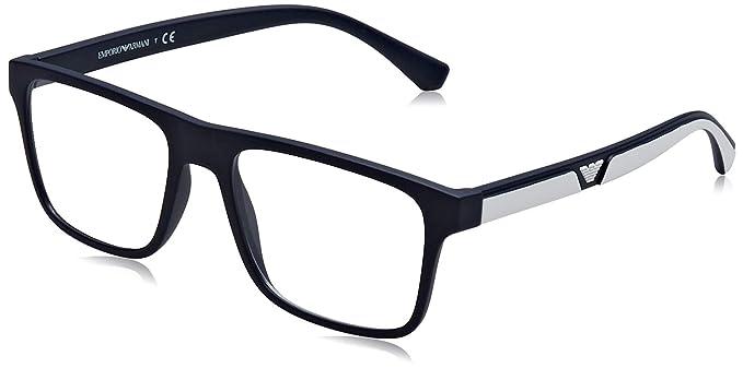 Emporio Armani 0EA4115 Gafas de sol, Matte Dark Blue, 54 para Hombre