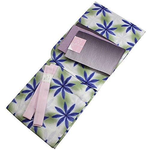 Womens Cotton Yukata 3items set Japanese Summer Kimono Snowflake M size by Kimono Japan