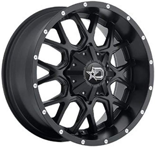 Dropstars 645B Wheel with Black Finish (20x12''/8x6.5'', -44mm Offset)