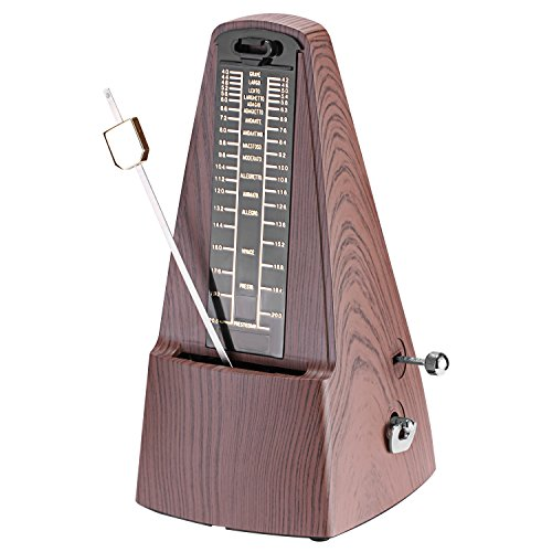 ional Wind up Mechanical Metronome with Accurate Timing and Tempo for Piano Guitar Bass Drum Violin and Other Musical Instruments, Ideal for Music Lover,Beginner or Musician (Teak) ()