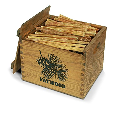 Better Wood Products Fatwood Firestarter Wooden Crate, 12-Pounds