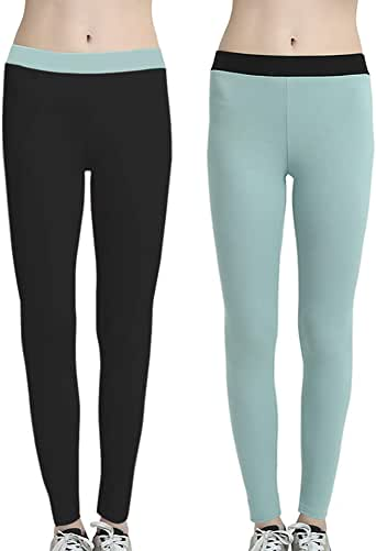 LiPa Tova 2-Pack Womens Leggings Autumn Cotton Stretchy Warm Pants